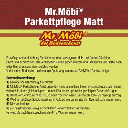 Mr.Möbi® Parkett Pflege Matt